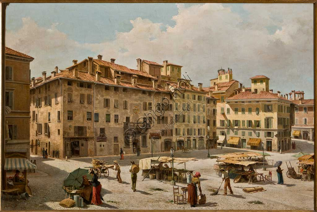 "Assicoop - Unipol Collection: Fermo Forti, ""Piazza Grande in Modena""; oil on canvas."