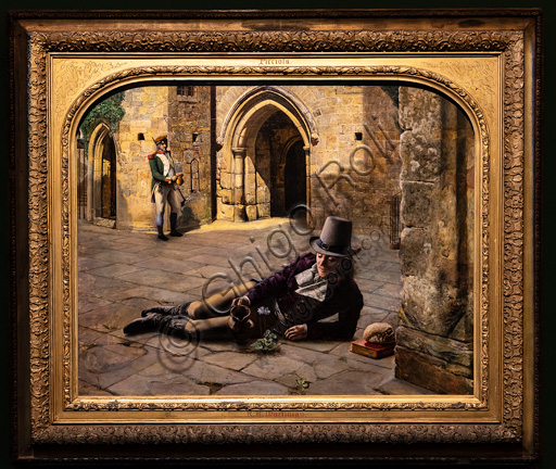 """Picciola""  (1853)  by Robert Braithwaite Martineau (1826 - 1869);  oil painting on canvas."