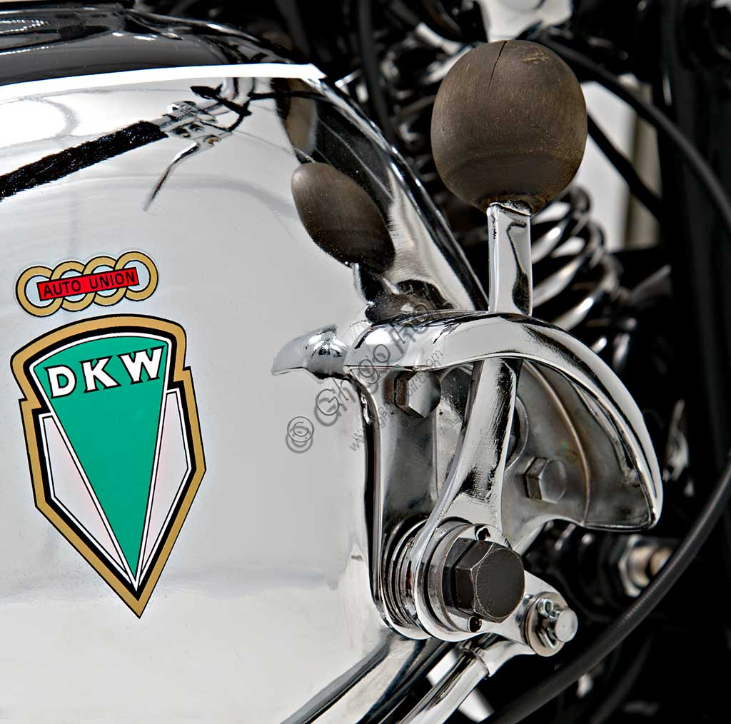 Ancient Motorbike DKW UB 350 Sport.