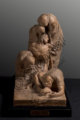 """Collezione Assicoop - Unipol: Ermenegildo Luppi (1877 - 1937), """"Pietà"""", bozzetto in terracotta."""