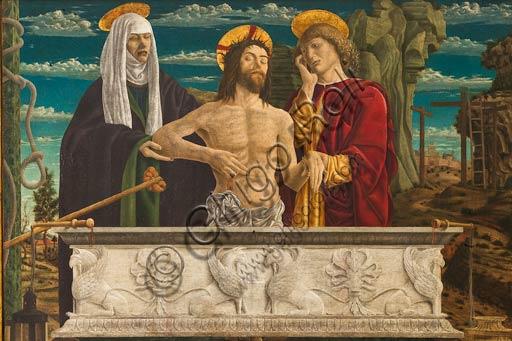 """Modena, Galleria Estense: """"Pietà"""", di Bartolomeo Bonascia (Bonasia), noto dal 1468 al 1527."""