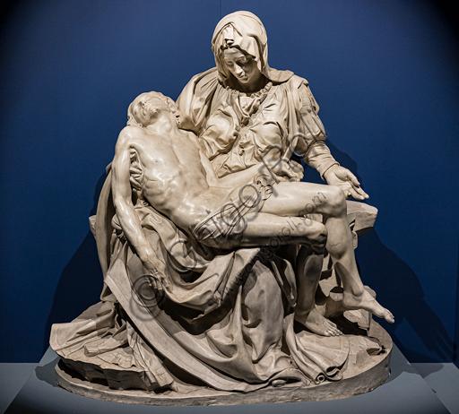 """""""Pietà"""", calco in gesso della """"Pietà"""" di Michelangelo oggi in San Pietro. Tale calco venne realizzato nel 1975 dal Laboratorio di restauro marmi dei Musei Vaticani."""