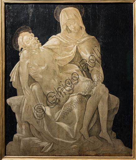 """""""Pietà"""", di Piero d'Argenta (?) o di seguace di Michelangelo, 1497-99 circa."""