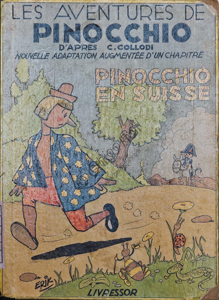 """Fondazione Nazionale Carlo Collodi, la Biblioteca: copertina di una delle edizioni svizzere di """"Pinocchio""""."""