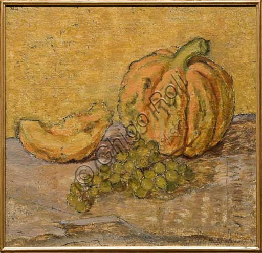 "Assicoop - Unipol Collection: Tino Pelloni (1895 - 1981),  ""The Melon and Grapes"", Oil on canvas, cm 42 X 45."