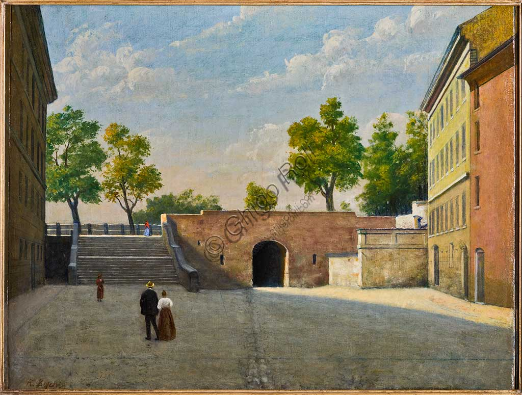"Assicoop - Unipol Collection: Achille Boschi, ""The Bologna Doorway in Modena""; oil on canvas."