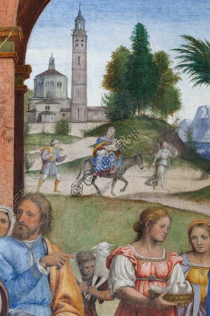 """Saronno, Santuario della Beata Vergine dei Miracoli, Presbiterio (o Cappella Maggiore): """"Presentazione di Gesù al Tempio"""", affresco di Bernardino Luini, 1525 - 1532. Particolare."""