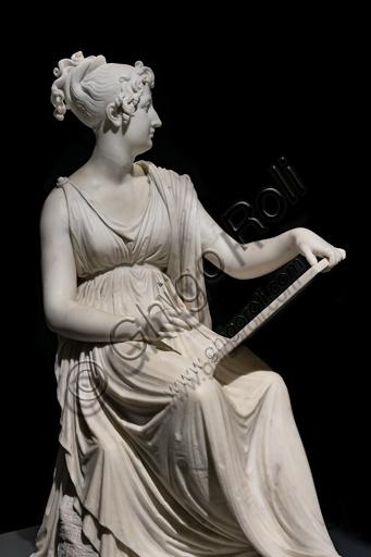 """""""La Principessa Leopoldina Esterhazy in atto di dipingere"""", 1805-18, di Antonio Canova (1757 - 1822), marmo. Particolare."""