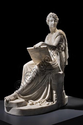 """""""La Principessa Leopoldina Esterhazy nell'atto di dipingere"""", 1805-18, di Antonio Canova (1757 - 1822), marmo."""