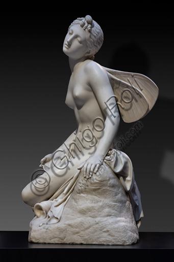 "Pietro Tenerani: ""Psyche Fainted"", Model,marble sculpture, before 1838."