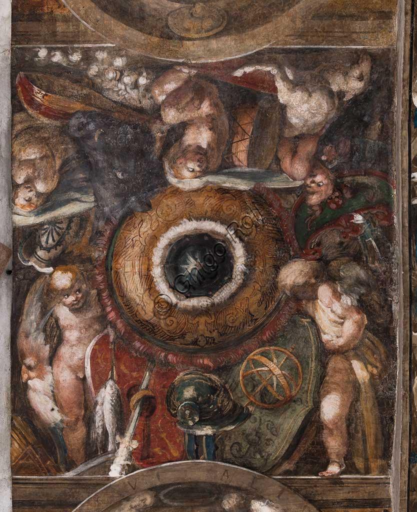 Parma, Chiesa di San Giovanni Evangelista: affresco del periodo giovanile di Girolamo Francesco M. Mazzola  (il Parmigianino) (circa 1523). Particolare con putti.