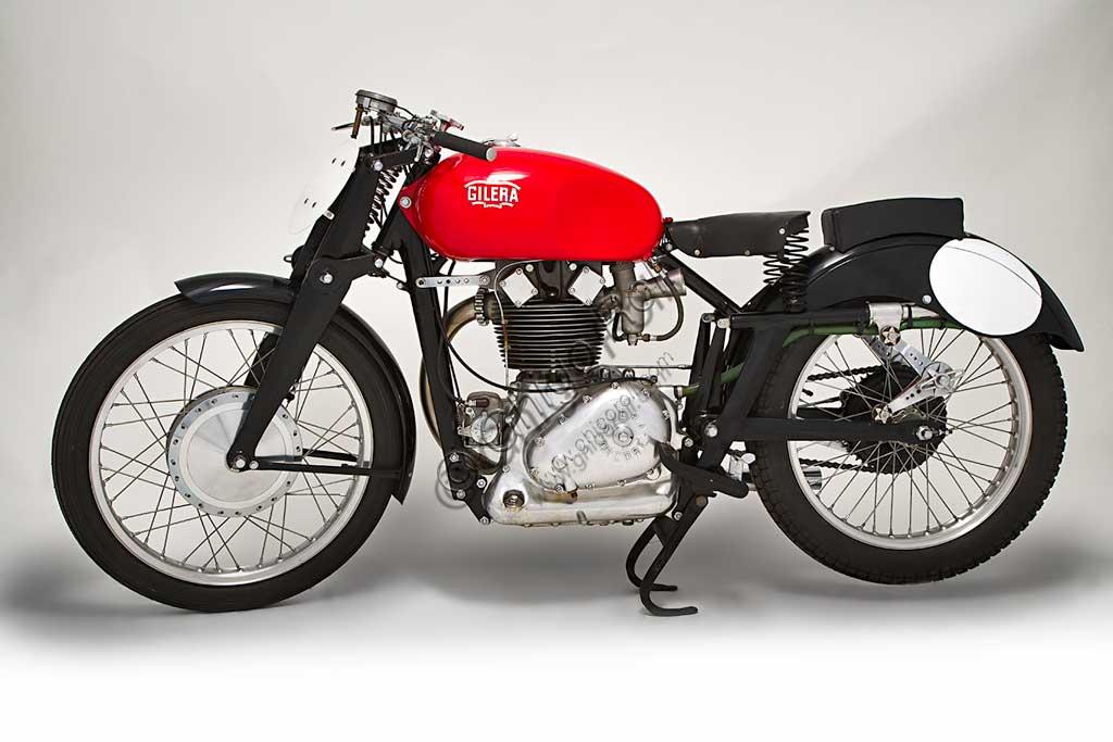 Ancient Motorbike Gilera Saturno Sanremo.