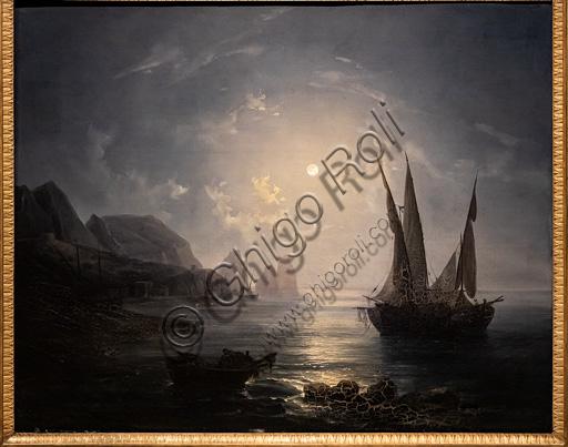 "Raffaele Fergola: ""Nocturne in Capri"", about 1843, oil painting on canvas."