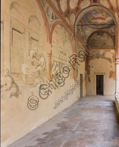 Reggio Emilia, St. Peter Monastery (XVI century), one of the cloisters: Renaissance wall paintings.