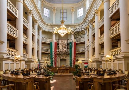 Reggio Emilia, the Town Hall Palace: the Council Room.