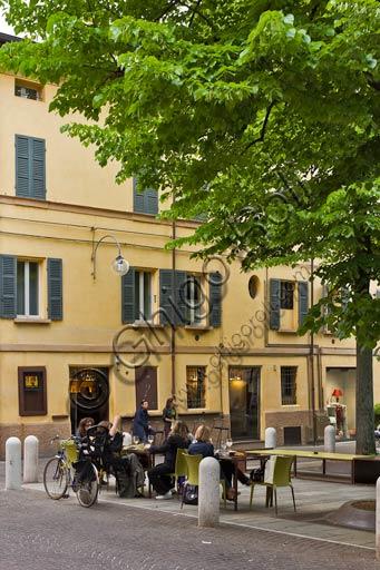 Reggio Emilia: partial view of Fontanesi Square.