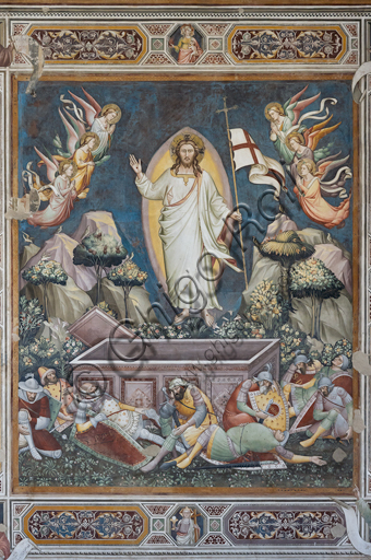 "Basilica of the Holy Cross, sacristy, Scenes of the life of Christ: ""Resurrection"" by Niccolò Gerini."