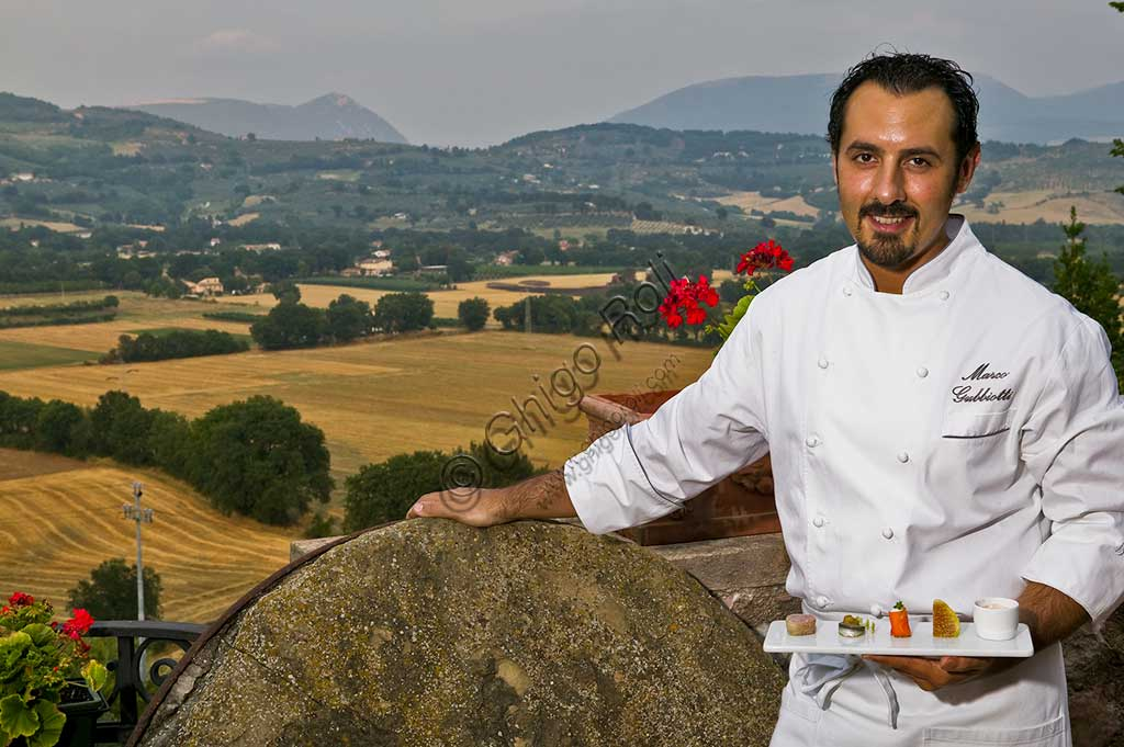 Restaurant La Bastiglia: the cook.