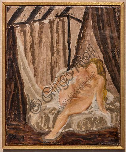 """Museo Novecento: """"Risveglio"""", di Arturo Martini, 1939 - 1940. Olio su cartone."""