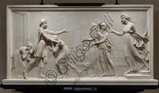 """""""Ritorno di Telemaco a Itaca e incontro con Penelope"""", 1787-90, di Antonio Canova (1757 - 1822), gesso."""