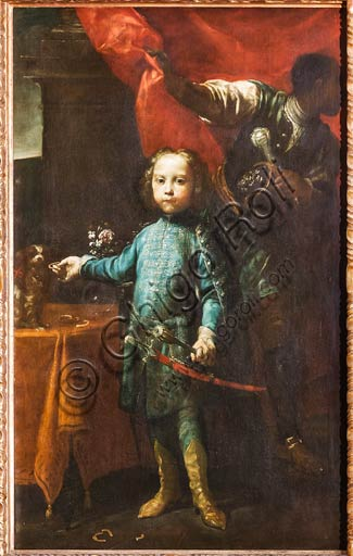 "Modena, Civic Museum of Art: ""Portrait of General Pallfly's son"", by Giuseppe Maria Crespi known as ""The Spanish Man"" (Bologna 1665-1747). Oil painting."