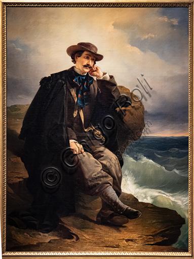 "Domenico Induno: ""Portrait of the poet Aleardo Aleardi"", oil painting on canvas about 1850."