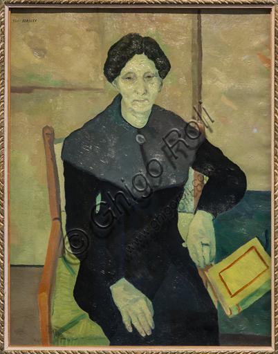 """Museo Novecento:""""Ritratto della madre"""", di Renato Birolli, 1940. Olio su tela."""