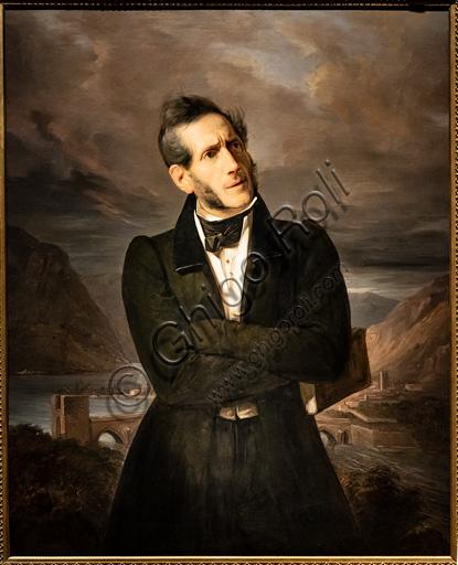 "Giuseppe Molteni, Massimo D'Azeglio: ""Portrait of Alessandro Manzoni"", oil painting, 1835."