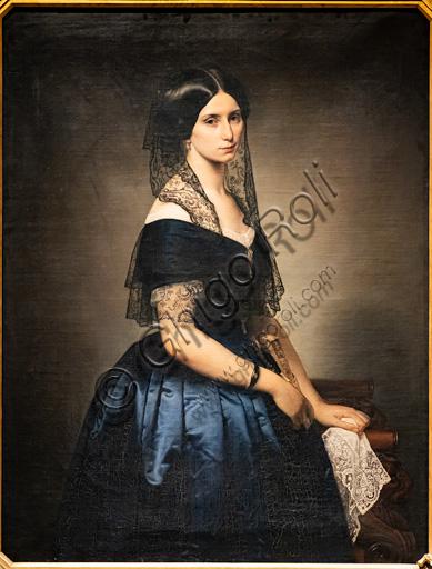 "Francesco Hayez: ""Portrait of  Antonietta Tarsis Basilico"", oil painting, 1851."