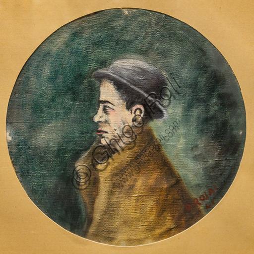 """Museo Novecento: """"Ritratto di Antonio Delfini"""", di Ottone Rosai, 1941. Olio su tela."""
