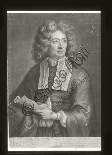 """Portrait of Arcangelo Corelli"". Engraving by John Smith."