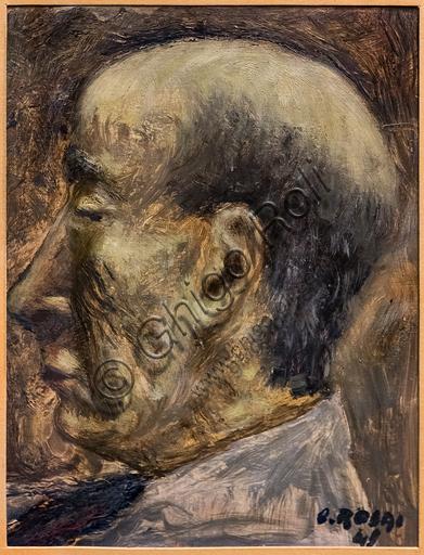 """Museo Novecento: """"Ritratto di Ardengo Soffici """", di Ottone Rosai, 1949. Olio su tavola."""