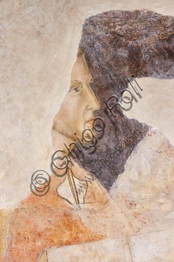 """""""Ritratto di Dante Alighieri"""". Si tratta del più antico e fedele ritratto documentato di Dante.Affreschi di Jacopo di Cione (fratello dell'Orcagna) su programma iconografico di Coluccio Salutati (1375-1406), conservati nel Palazzo dell'Arte dei Giudici e Notai, o del Proconsolo, a Firenze."""