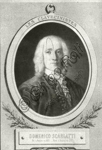 """""""Portrait of Domenico Scarlatti"""". Lithograph."""