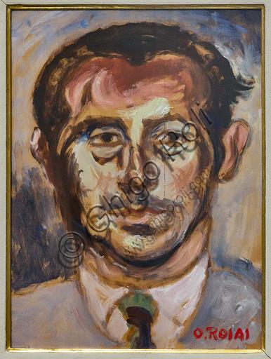 """Museo Novecento: """"Ritratto di Enrico Vallecchi"""", di Ottone Rosai, 1954-5. Olio su tela."""