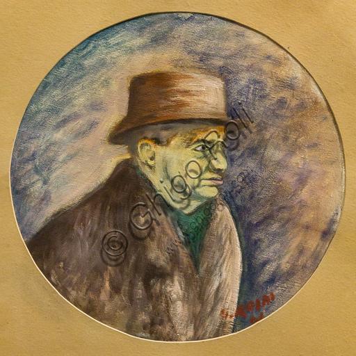 """Museo Novecento: """"Ritratto di Eugenio Montale"""", di Ottone Rosai, 1941. Olio su tela."""
