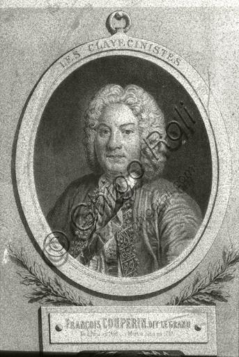 """""""Portrait of François Couperin"""". Lithograph."""