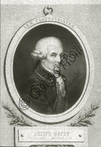 """Portrait of Franz Joseph Haydn"". Lithograph."