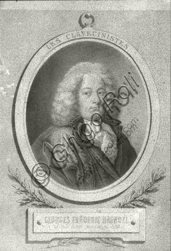 """""""Portrait of Georg Friedrich Händel"""". Lithograph."""