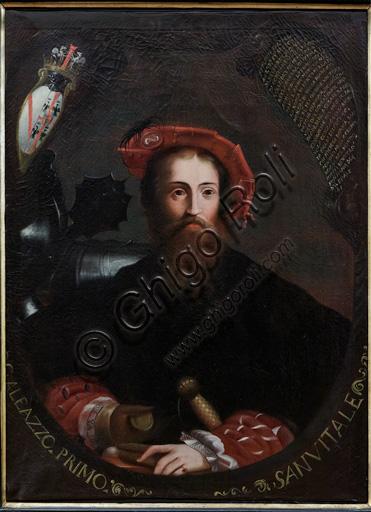 """Fontanellato, Rocca Sanvitale: """"Ritratto di G.Galeazzo Sanvitale"""", copia dell'opera del Parmigianino."""