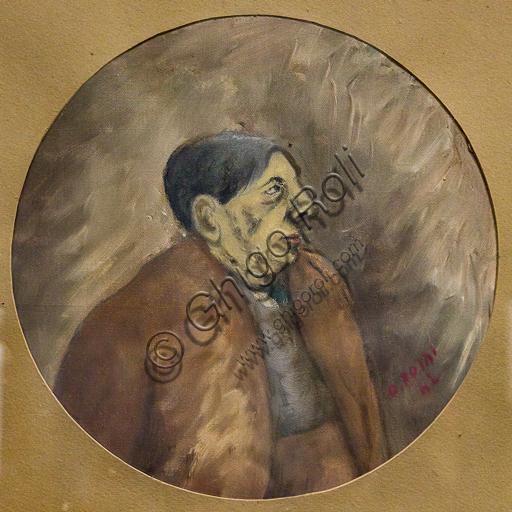 """Museo Novecento: """"Ritratto di Giorgio De Chirico"""", di Ottone Rosai, 1942. Olio su tela."""