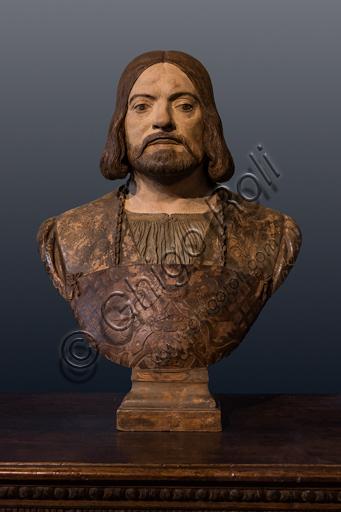 """Portrait of Girolamo Andreasi"", by Gian Cristoforo Romano, polychrome terracotta, first decade XVI century."