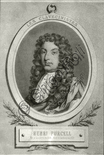 """""""Portrait of Henry Purcell"""". Engraving."""