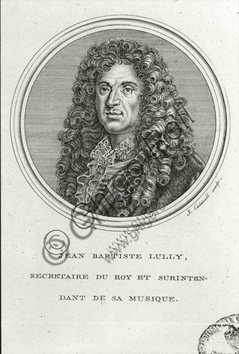 """Portrait of Jean-Baptiste Lully"". Engraving."