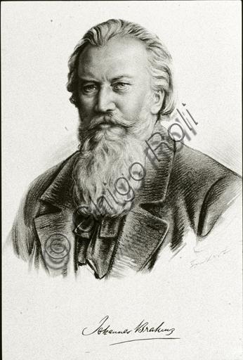 """""""Portrait of Johannes Brahms""""."""