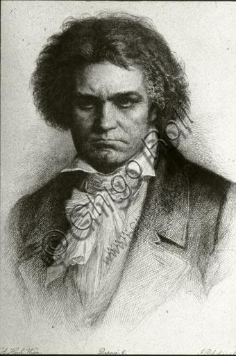 """""""Portrait of Ludwig van Beethoven"""", engraving."""