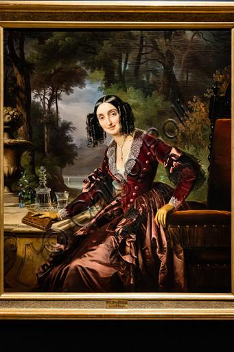 "Giuseppe Molteni, Massimo D'Azeglio: ""Portrait of Luisa  D'Azeglio Blondel Maumary"", oil painting, 1841."
