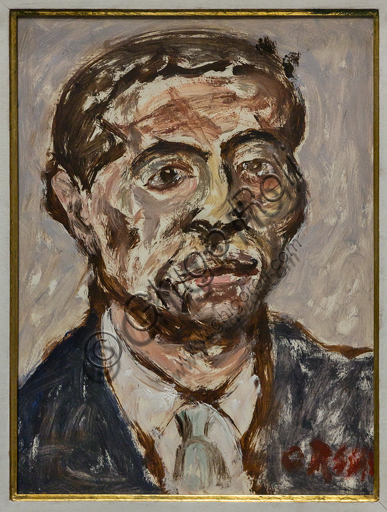 """Museo Novecento: """"Ritratto di Marino Mazzacurati"""", di Ottone Rosai, 1954-5. Olio su tela."""