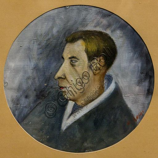 """Museo Novecento: """"Ritratto di Mario Luzi"""", di Ottone Rosai, 1941. Olio su tela."""
