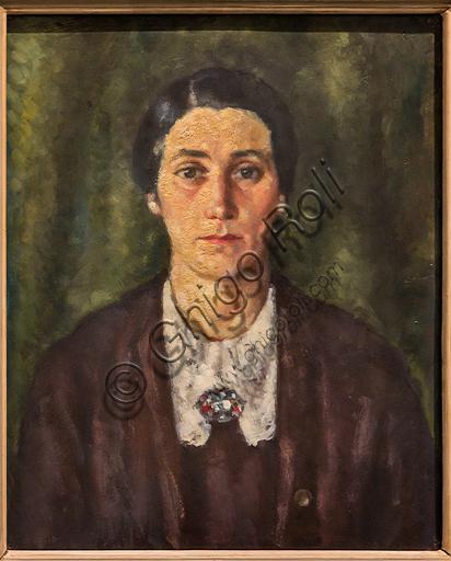 """Museo Novecento: """"Ritratto di mia moglie"""", di Ardengo Soffici, 1930 - 40. Olio su cartone."""